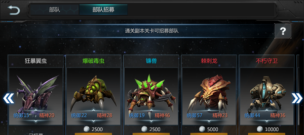 《異星崛起》部隊系統